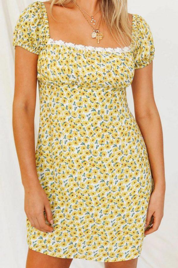 THE MOODSS Basil Mini Dress-1