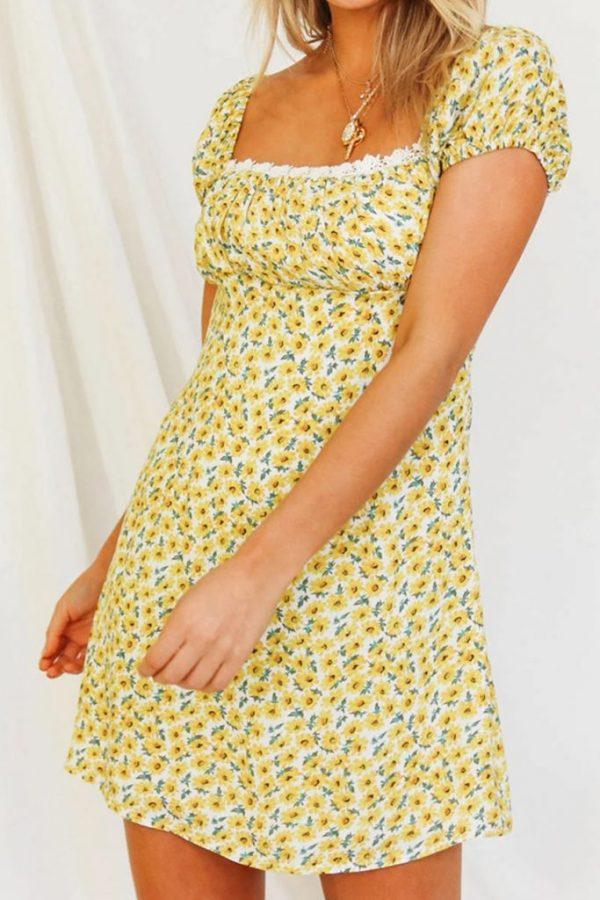 THE MOODSS Basil Mini Dress-2