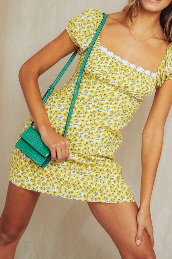THE MOODSS Basil Mini Dress-3