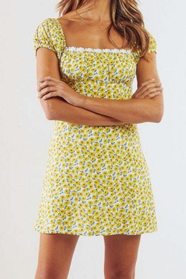 THE MOODSS Basil Mini Dress-5