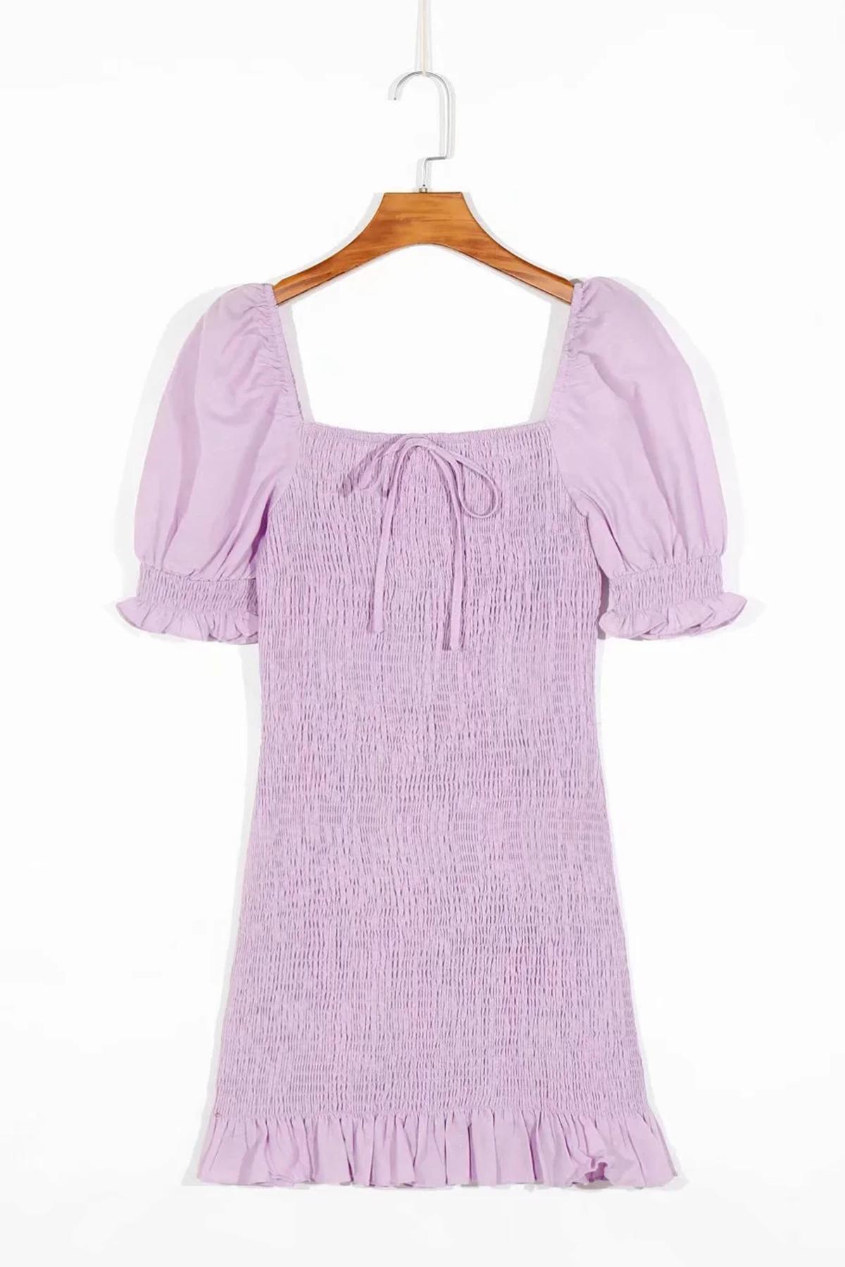 THE MOODSS Billie Linen Mini Dress-1