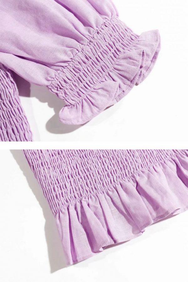 THE MOODSS Billie Linen Mini Dress-3