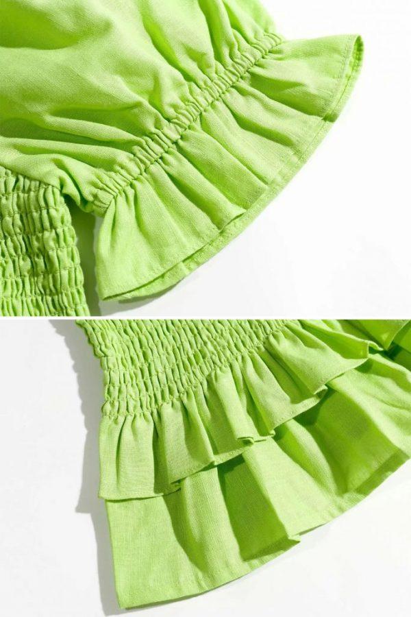 THE MOODSS Billie Linen Mini Dress-6