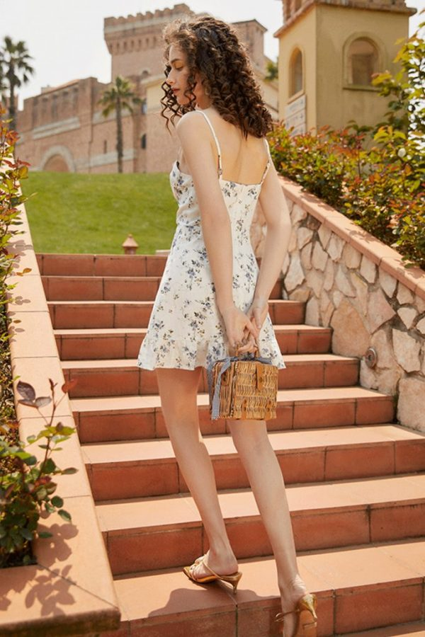 THE MOODSS Posie Linen Mini Dress-3