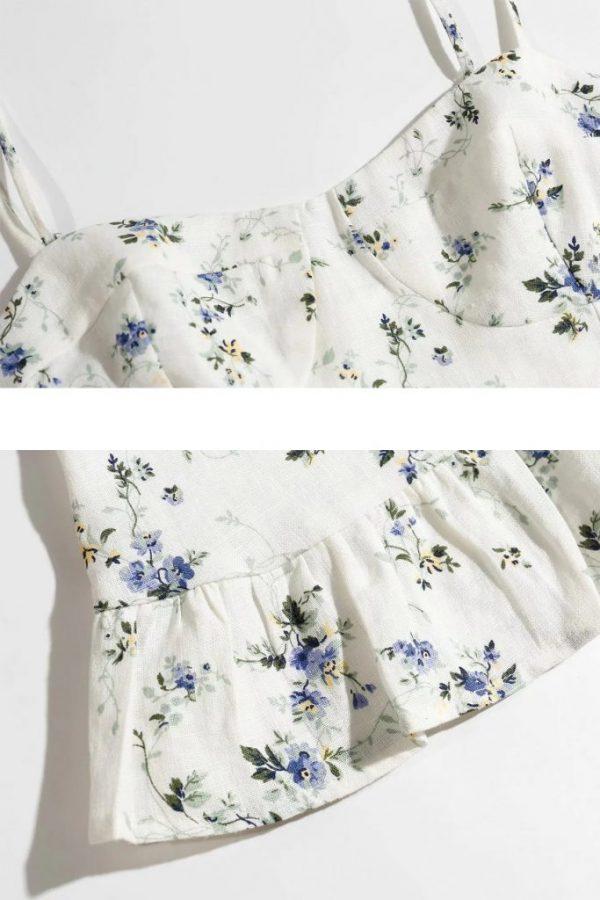 THE MOODSS Posie Linen Mini Dress-5