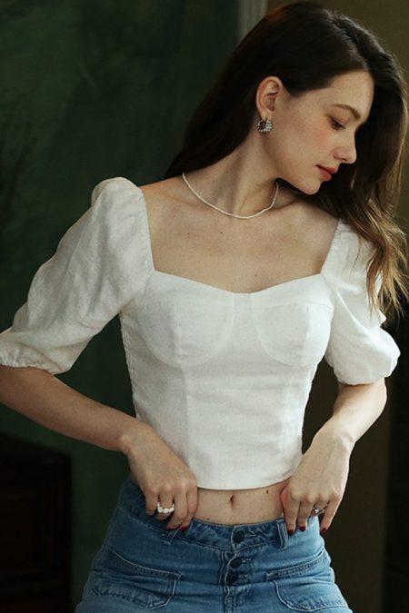 THE MOODSS Jezebel Linen Top-1