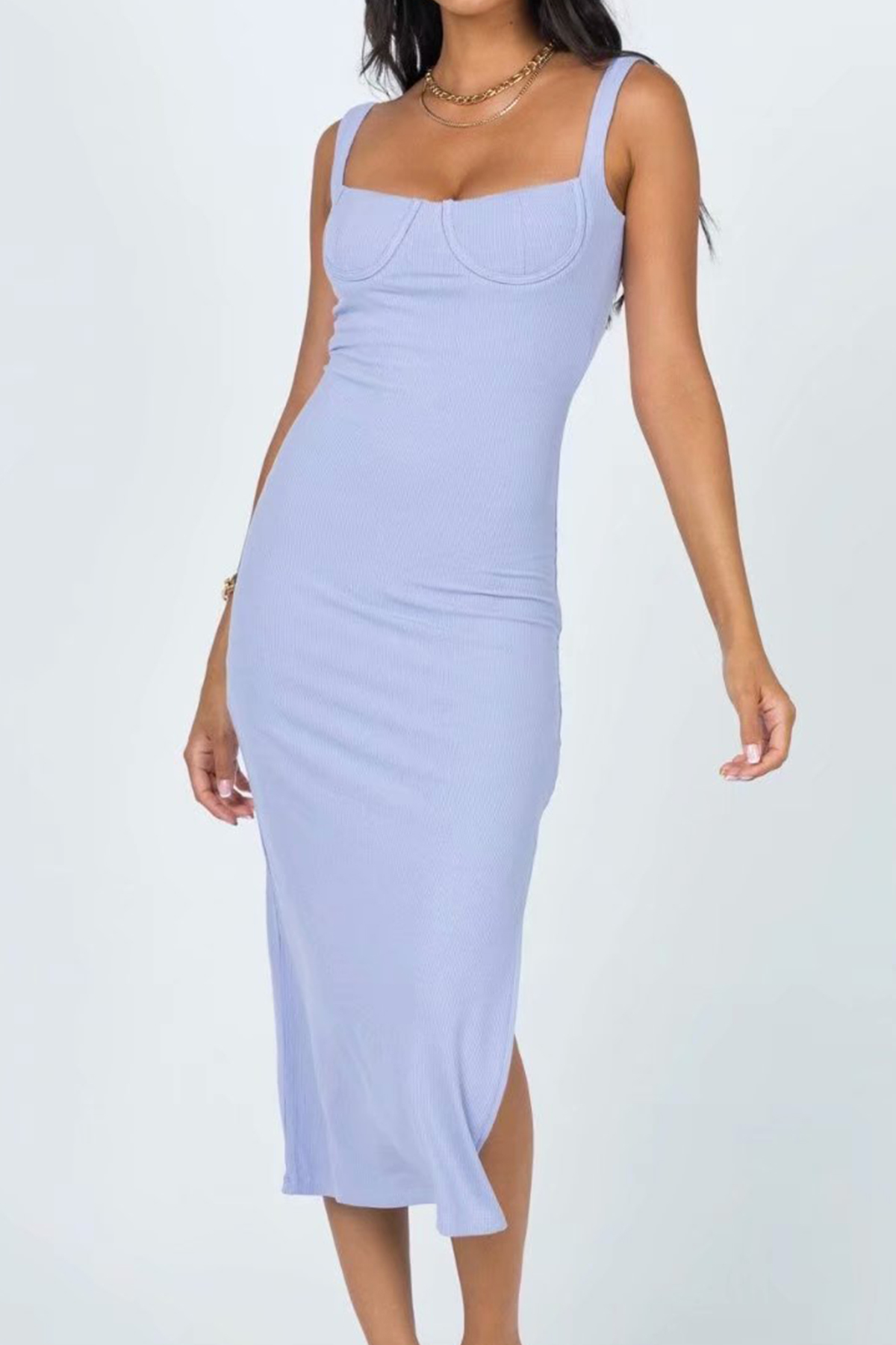 THE MOODSS Adriel Midi Dress-1