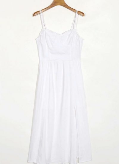 THE MOODSS Zelda Linen Midi Dress-1